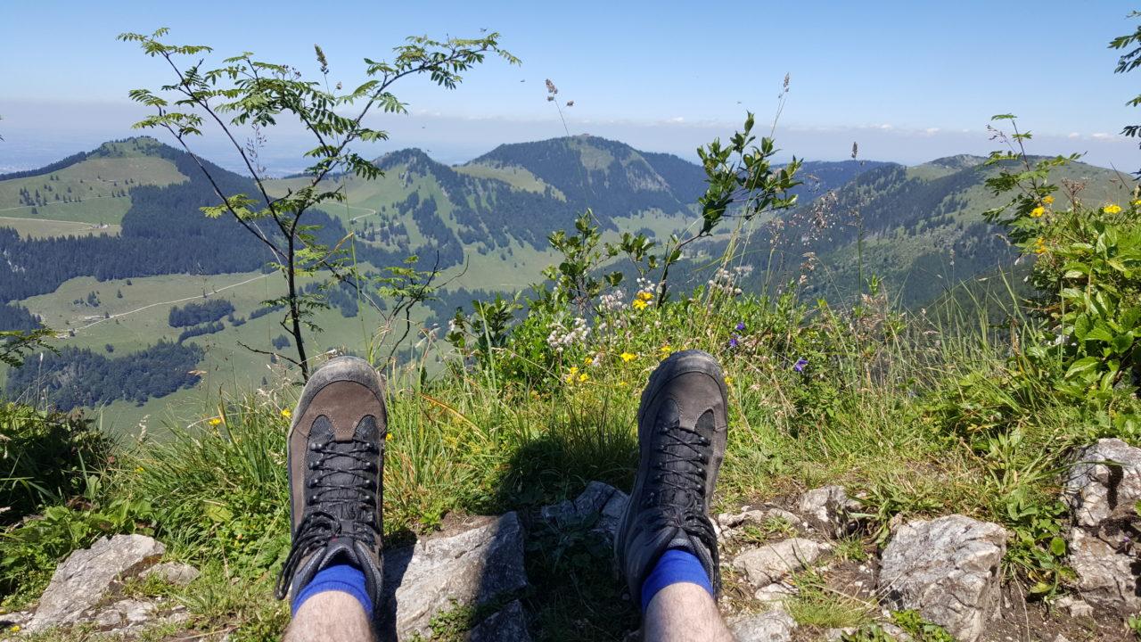 Ausruhen auf dem Gipfel